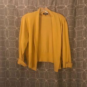 Sweaters - Mustard Yellow Cardigan/Shrug